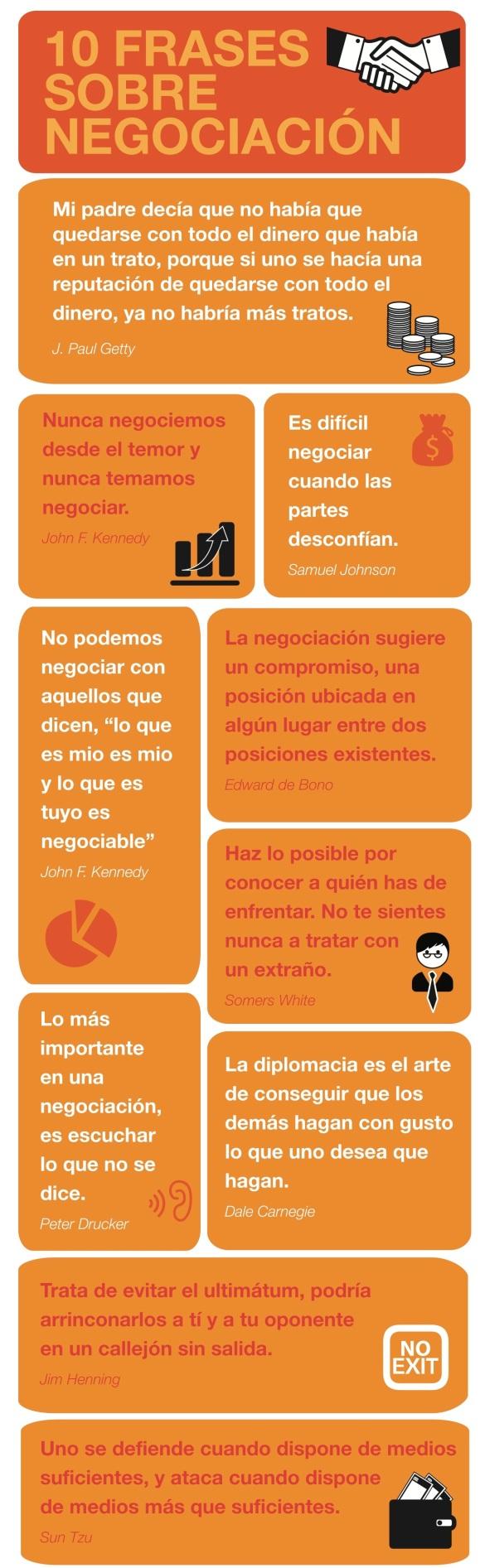 10 Frases para la negociación